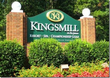 Entrance to Kingsmill Williamsburg VA