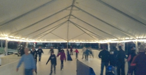 Well,. its no Rockefeller Center but Williamsburg's first outdoor Skating Rink opens in  New Town, this Friday Nov 23rd at noon.