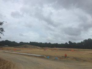 Construction progress at The Promenade