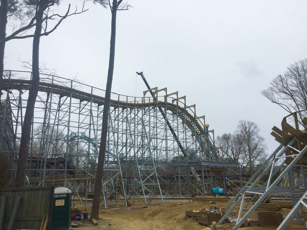 Sneak Peak At InvadR Busch Gardens Williamsburgu0027s New Wooden Roller Coaster