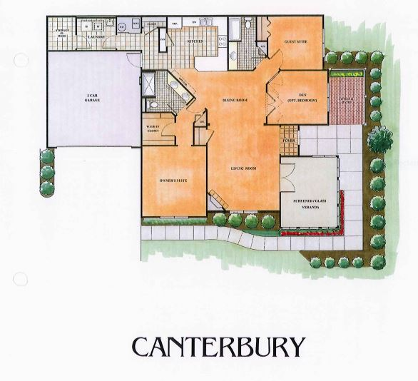 Canterbury Floor Plan Villa Communities Virginia Mr Williamsburg